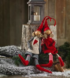 Primitive Christmas dolls
