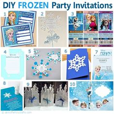 DIY Frozen Movie Inspired Party Invitations