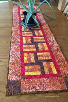 Handmade Quilted Table Runner | Fall Table Topper | Wide Table Runner by TheQuiltedBungalow on Etsy Quilting Ideas, Quilting Designs, Modern Mugs, Bed Runner, Donate To Charity, Traditional Quilts, Heart Ornament, Quilted Table Runners, Fall Table