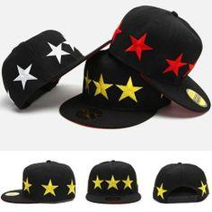 59208ea262e Star Snapback Hat Hip Hop Caps Mens Baseball Adjustable Hats B Boy CHANCHAN  009 Snapback Hats