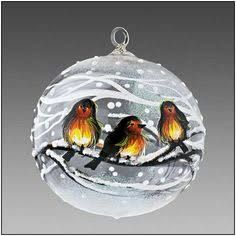 Image result for painted winter scenes on christmas ball