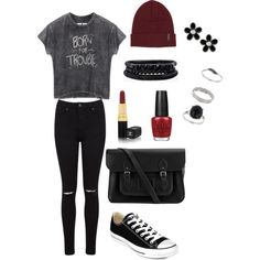 """""""Born for Trouble"""" Outfit Polyvore, Stuff To Buy, Outfits, Shopping, Collection, Design, Women, Fashion, Moda"""