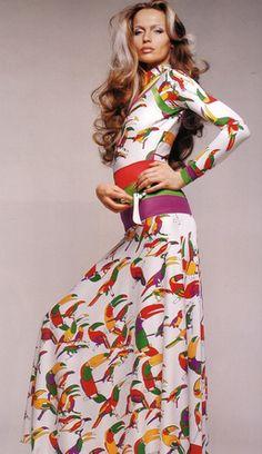 Vintage Toucan Dress, 1972