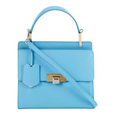 Current season baby blue #Balenciaga. Small sized, structured bag with a vintage spirit. On site now for one day only (link in bio).