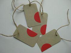 Minimalist Gift Tags - Modern Handmade Packaging - Mini Notes. $8.50, via Etsy.
