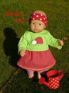 """Puppenkleidung - """"GlücksKind"""" 4tlg Set Gr.35-40cm - ein Designerstück von handgeschick bei DaWanda"""