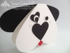 2014 Heart Framelits Puppy Dog Card with Love You To The Moon Lego Valentines, Diy Valentines Cards, Valentine Crafts For Kids, Valentine's Cards For Kids, Boy Cards, Cute Cards, Punch Art Cards, Easy Arts And Crafts, Dog Crafts