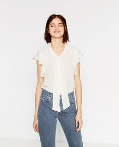 5f952e60445f Image 2 of BLOUSE WITH BOW from Zara Interview Style, Zara United States,  Zara