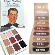 #Swatches of the new Meet Matt(e) Trimony palette from @thebalm_cosmetics. It's everything I thought it would be and more. Loove. #swatchsunday #sundayswatches #thebalmcosmetics #thebalm #meetmattetrimony #kohls