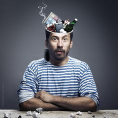 Garbage in the head / Arts, digital arts, photomanipulation, creative / Alexey Lobur: professional photographer & retoucher