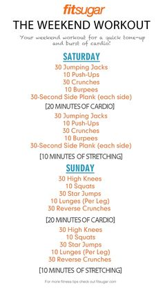 Weekend Workout - holy moly