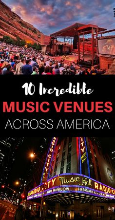These iconic live music venues promise the experience of a lifetime. Take a tour of the most breathtaking destinations on every music lovers bucket list! // AmericanProfile.com