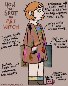 How to Spot an Art Witch! The art witch has an uncanny talent for painting things before they happen… They were suggested by this user! The other witches in this series can be seen here.