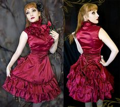 ~ Comes in your choice of satin colors. ~ The skirt has a side zipper with corset style back for better fit. ~ Skirt can be raised or lowered in front and/or back with ribbon ties. ~ Machine washable in cold, with like colors. Low dryer. ~ We ship using Priority Mail with tracking.