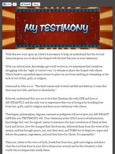 Check out this Mad Mimi newsletter: #1 tool in Christianity and you already possess it!!!