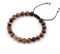 This bracelet comes in 2 fantastic adjustable patterns. Material: Semi-precious Stone Metals Type: Zinc Alloy Note that this fantastic product is not available in store. Handmade Bracelets, Bracelets For Men, Fashion Bracelets, Beaded Bracelets, Necklaces, Mens Charm Bracelet, Stone Bracelet, What Are Crystals, Jewelry Sets