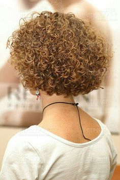 Love the spiral curls on short hair!