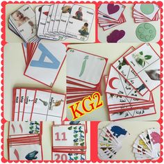 Handmade customizable full set of KG2 flash cards (Science, English, Math, French, Espagnol, Arabic)