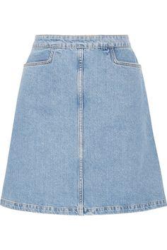 M.I.H JEANS Decade Denim Mini Skirt. #m.i.hjeans #cloth #skirts