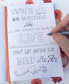 #FREDAGSFIX ❤️ Something to think about! ❤️ Hvordan har du valgt at leve dit liv?  Er det dig, der bestemmer hvordan din livshistorie skrives?  Du behøver ikke svare nu, bare du tænker over det, og selv er opmærksom på dit svar!  Rigtig god weekend!