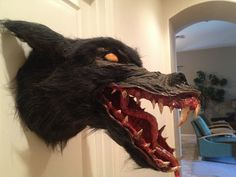 33 The Big Bad Wolf - tutorial on how to make your own werewolf head to hang on the wall