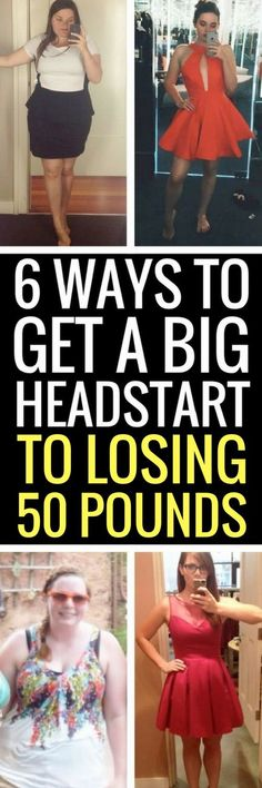 6 weight loss tricks that will really help you shed 50 pounds.