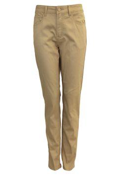 Plus Size Beige Five-Pocket Skinny Jeans