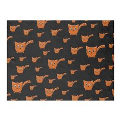 Shop Black & Orange Kitty Pattern Fleece Blanket created by thepawkinglot. Picnic In The Park, Creature Comforts, Edge Stitch, Outdoor Events, Pet Shop, Kittens Cutest, Cuddling, Colorful Backgrounds, Plush
