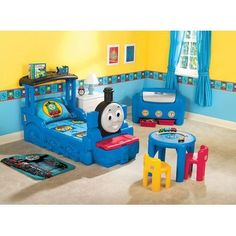 Little Tikes Thomas & Friends Train Bed, too bad Wyatt will probably out grow his liking of Thomas by next year. So cute!