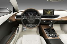 The beautiful Audi A7! You can almost smell the interior.