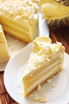 Durian white chocolate cheese mousse cake
