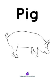 #FreeClassroomDownloads Download this picture of a pig for children to colour in. #classroomresources