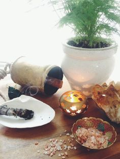 SALT, SMOKE + SOUND - The Bohemian Collective. A little ritual to cleanse your home and shift the energy in your space