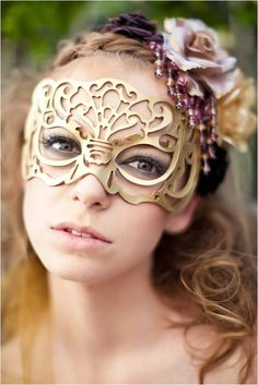 I am in love with laser cut masks, this would be a stunning accessory for your bridesmaids and practical too as it doesn't impair the wearers vision. Simply glorious.