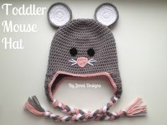 Free Crochet Pattern: Toddler Mouse Hat