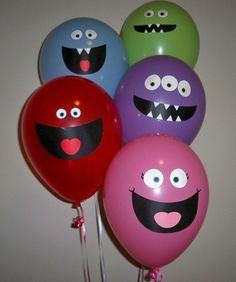 Happy monster balloons