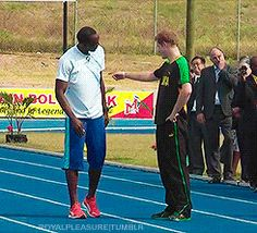 One of the memorable moments from 2012, Prince Harry's race with Usain Bolt. The winner was undisputed!