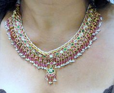 vintage antique 20 ct solid gold kundan meena by TRIBALEXPORT