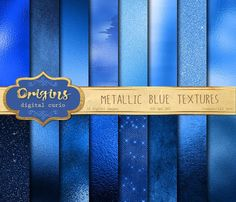 Metallic Blue Textures by Origins Digital Curio on @creativemarket