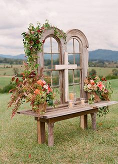 vintage window backdrop | Jen Fariello Photography | Blog.theknot.com