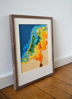 The Netherlands in Twelve Layers Handmade out of paper. 50 x 40 Mail me for information