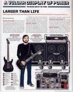 Alex Wade (White Chapel) Guitar Rig - 2011 Guitar World Guitar Rig, All About Music, Music Theory, Rigs, Guitars, Geek Stuff, Metal, Geek Things