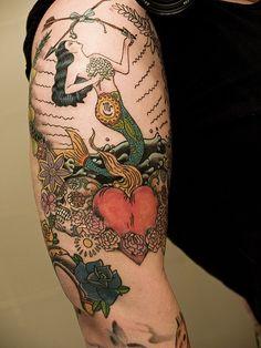 (7) mermaid tattoo | Tumblr I don't like the mermaid but the idea of everything else