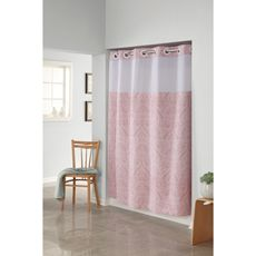 HooklessR Garden Paisley Rose 71 W X 74 L Fabric Shower Curtain And