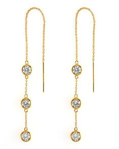 Y16N3 Debra Shepard Triple-Drop Thread Earrings  want these