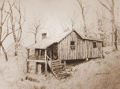 Custom Made Landscape Pen And Ink Drawings by Customart | CustomMade.