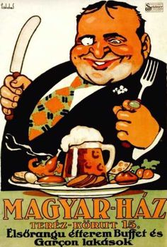 For a restaurant in Budapest/Hungary Vintage Advertisements, Vintage Ads, Vintage Posters, Retro Kunst, Retro Art, Retro Poster, Old Ads, Illustrations And Posters, Vintage Photography