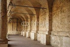 Minor cloister of San Francesco's Church in Ascoli Piceno, marche region