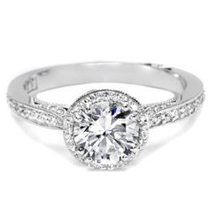 TACORI 18K White Gold .25CTW Diamond Semi Mount Ring #wedding ring