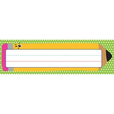 "Create a classroom full of color with the School Tools collection. With a bright star background and a cheerful pencil accent, the School Tools desk nameplates will add a delightful touch to desks and cubbies. Label, assign, and organize in style with our convenient desk nameplates. Each pack includes 36 nameplates, each measuring 9.5"" x 2.875."" Make sure to view our other School Tools products to create a cohesive and colorful classroom theme."